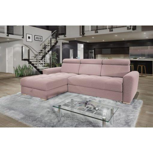 Nagykanizsa sarok ülőgarnitúra - balos 270 cm X 189 cm - rózsaszín színben