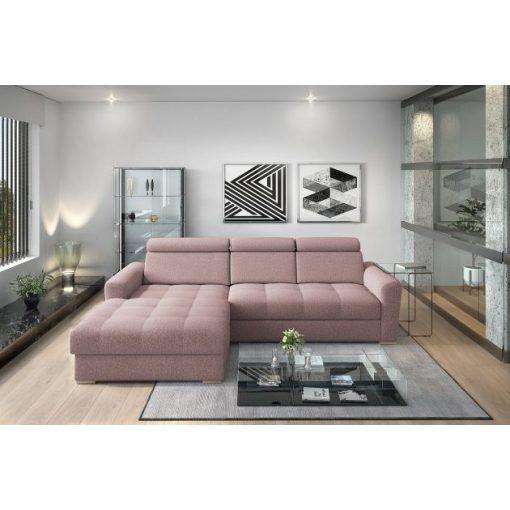 Nagykanizsa sarok ülőgarnitúra - balos 295 cm X 189 cm - rózsaszín színben