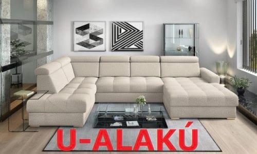 U-alakú kanapék