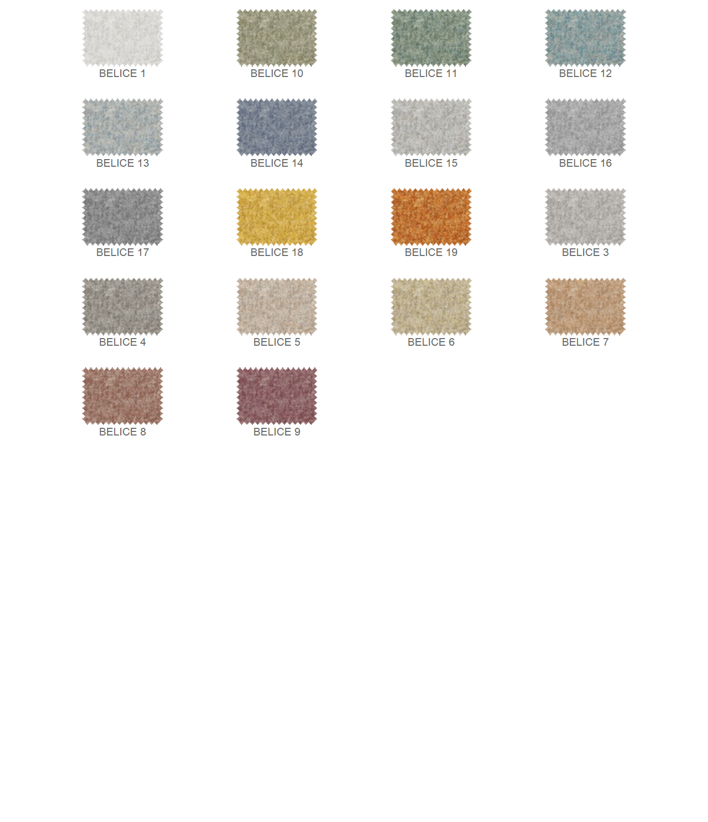 Belice színek