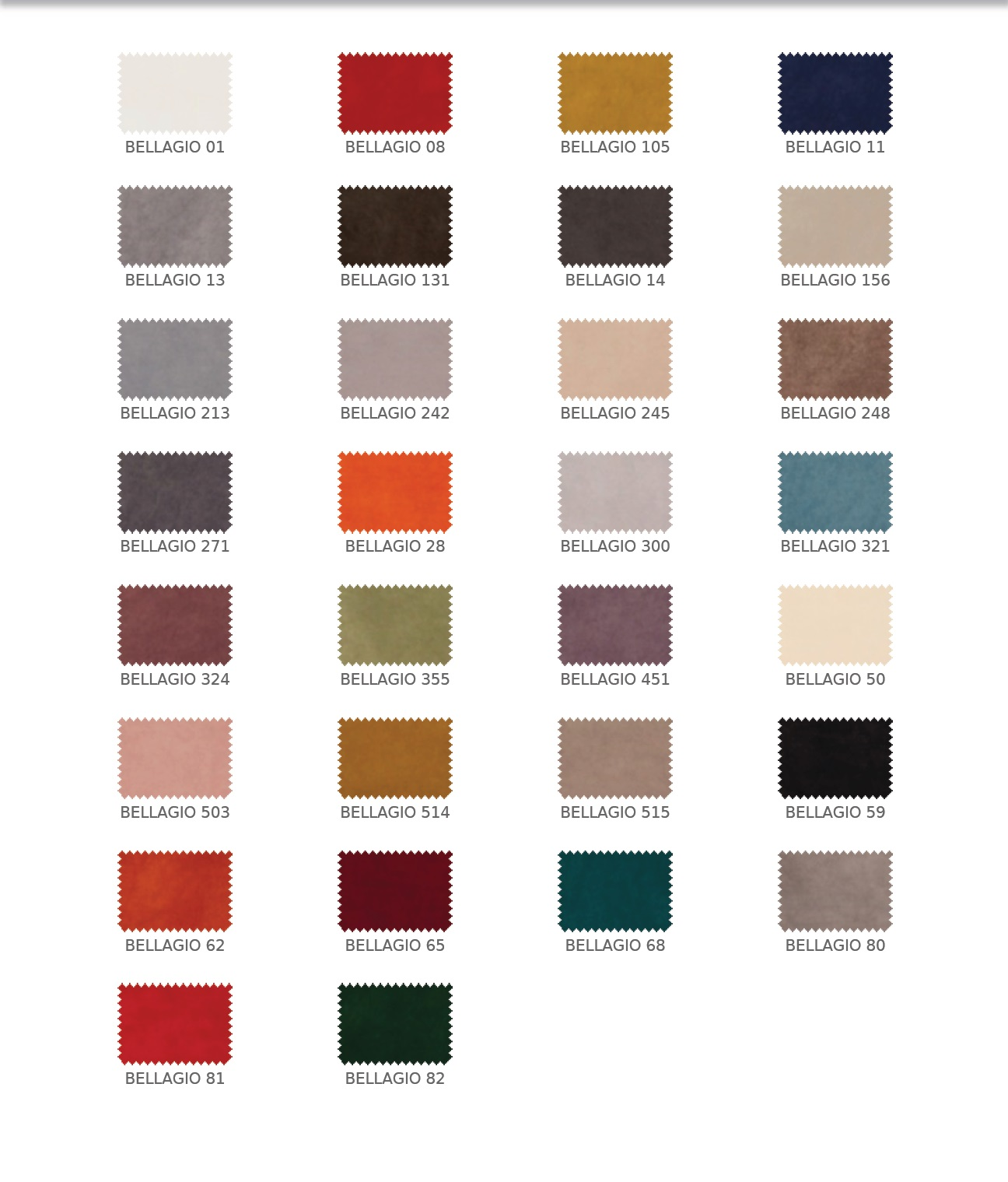 Bellagio színek
