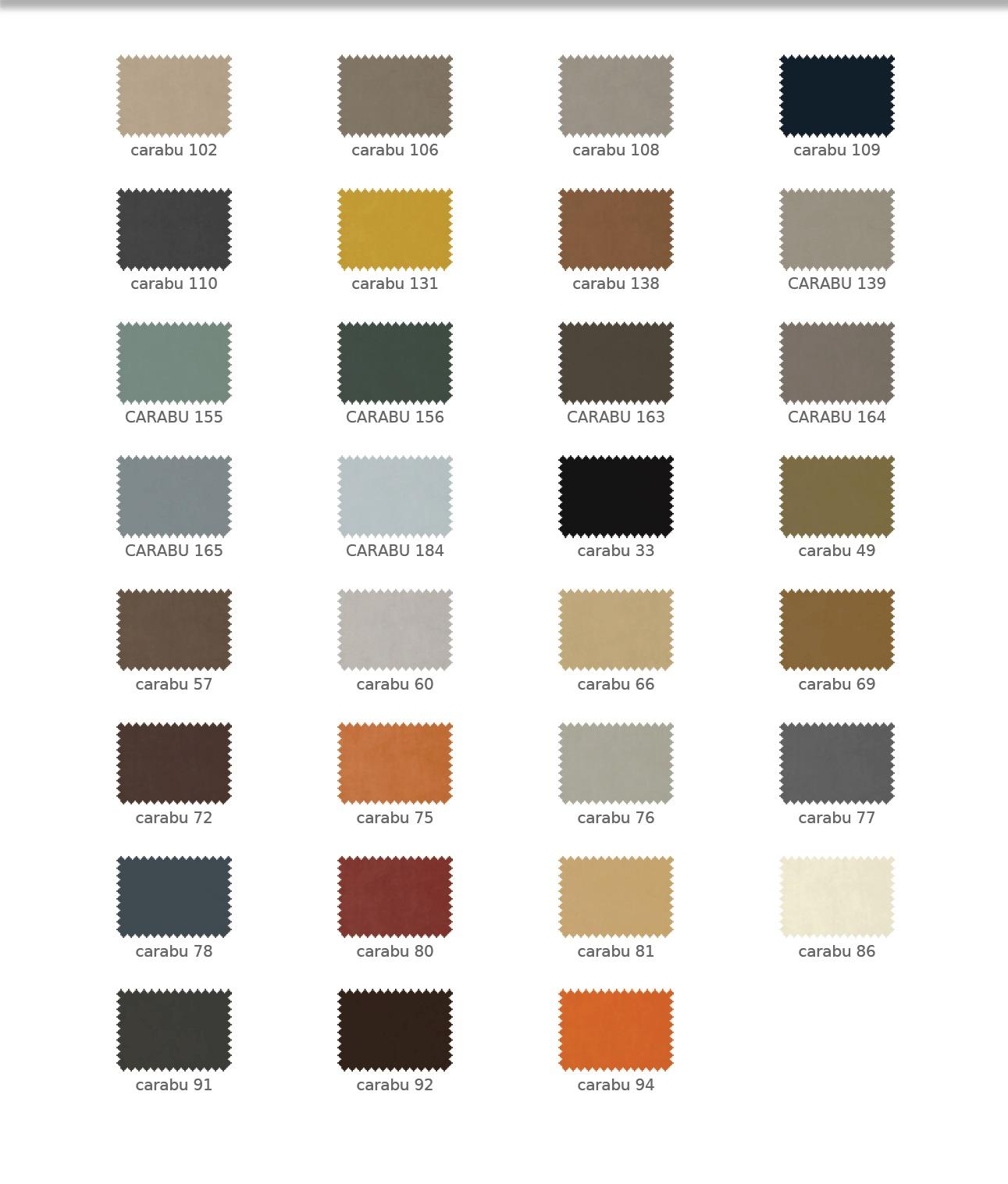 Carabu színek