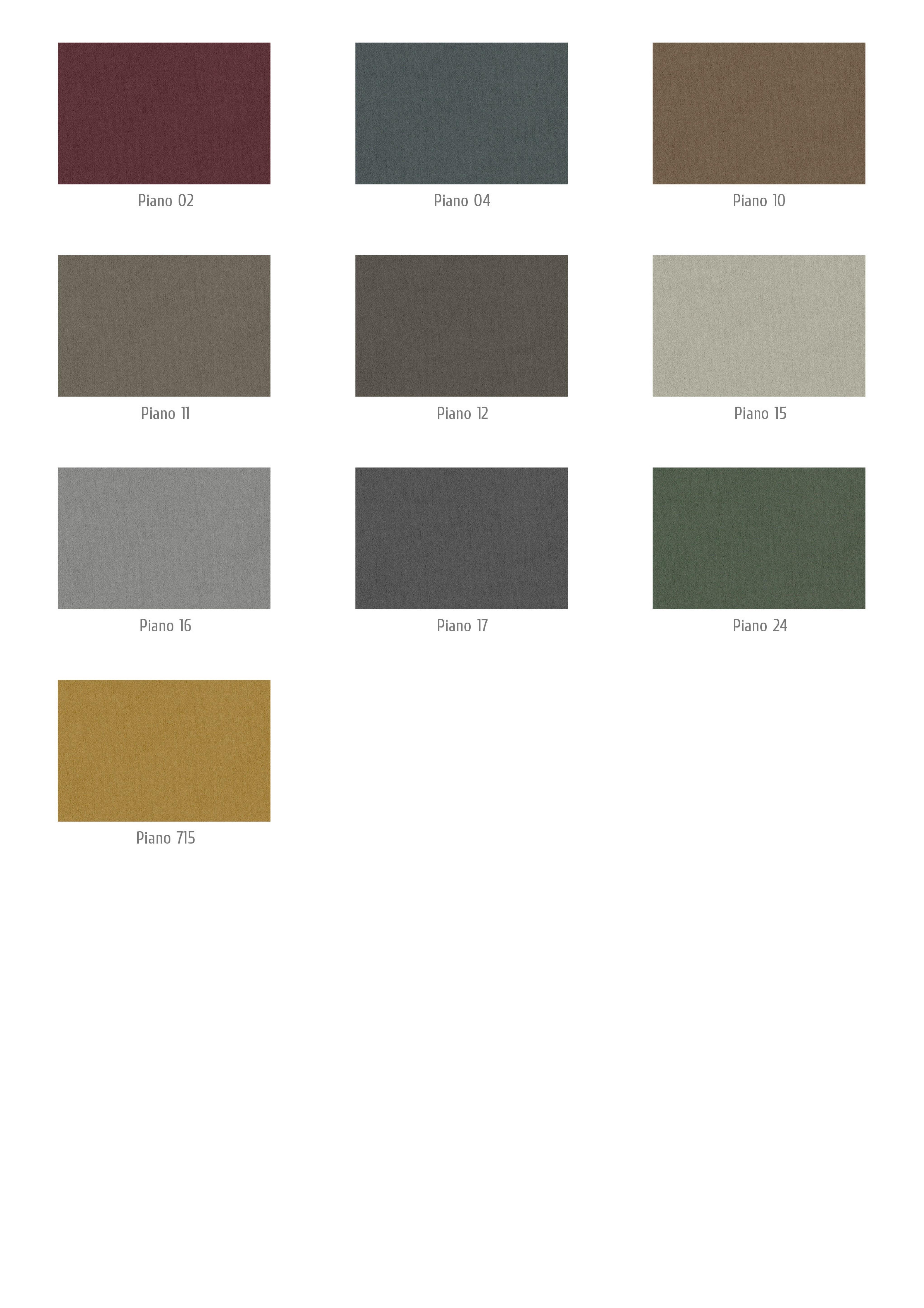 Piano színek
